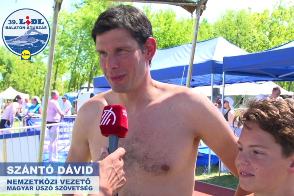 Szántó Dávid - Balaton-átúszás